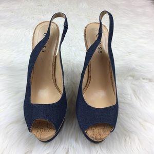 Guess Open Toe Heels size 8